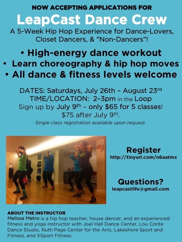LeapCast Dance Crew III – Summer Edition Flyer Final